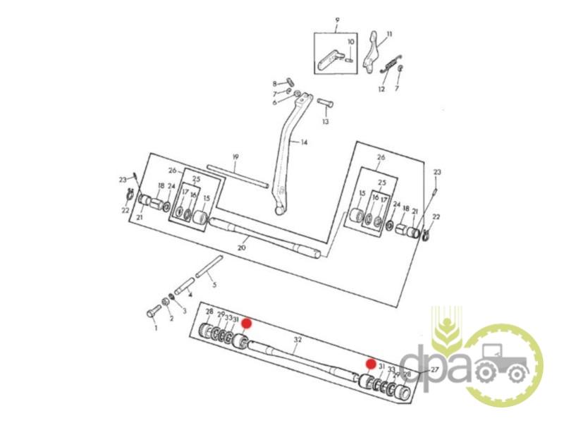 Bucsa ax ridicare hidraulica  John Deere L41802