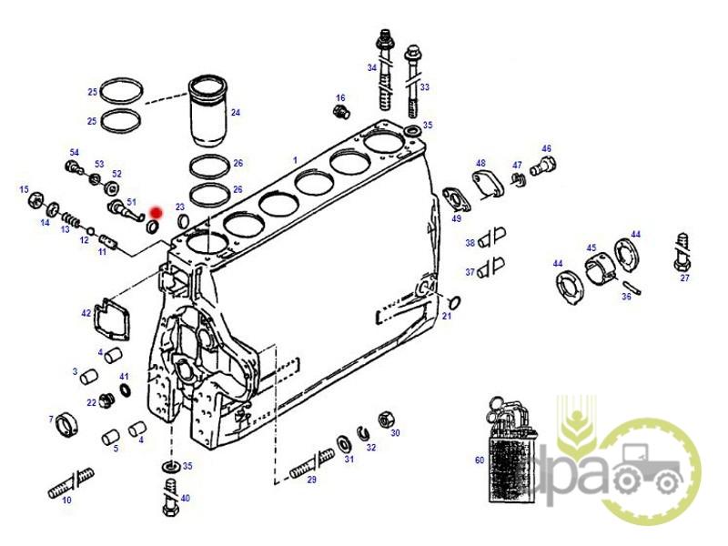 Bucsa cupru injector  Case IH 3055344R1
