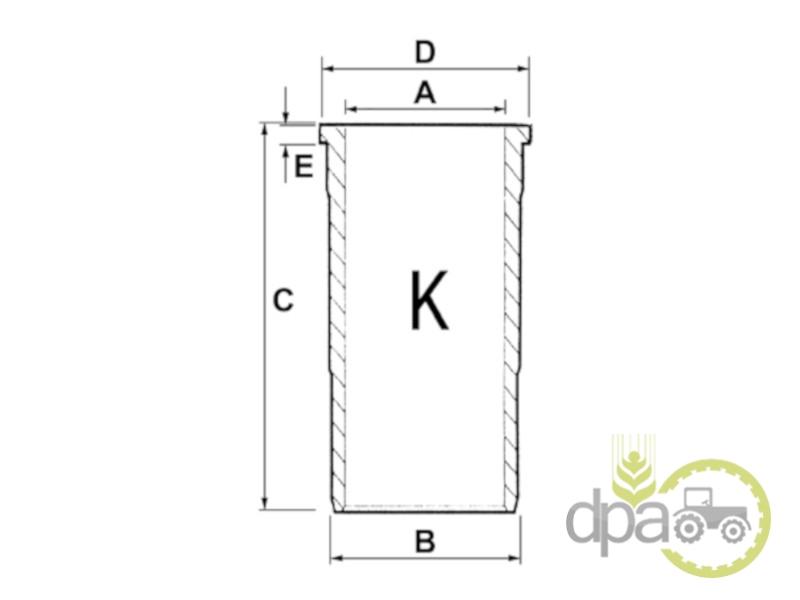 Camasa motor f  Case IH 3044481R3