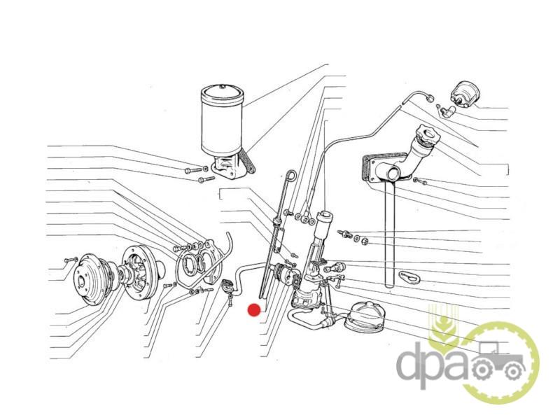 Conducta pompa ulei motor  Fiat 578154