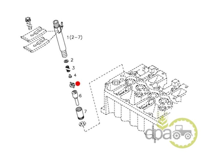 Distantier diuza injector  Deutz 01318184