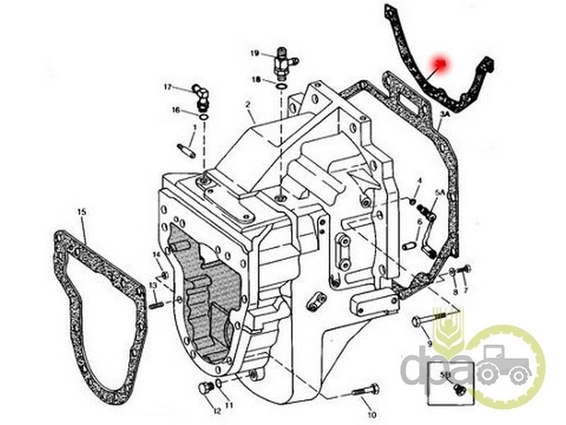 Garnitura carcasa ambreiaj  John Deere R90249