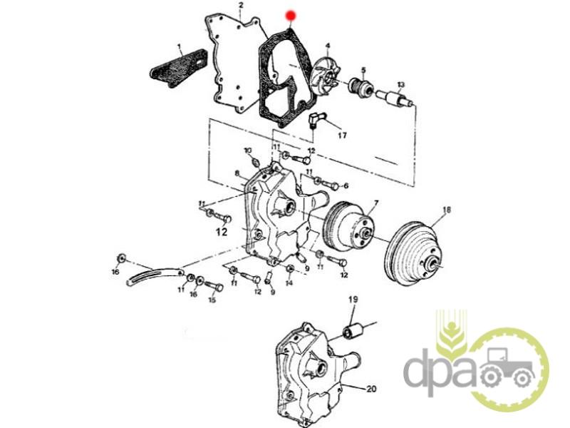 Garnitura pompa apa  John Deere T25485