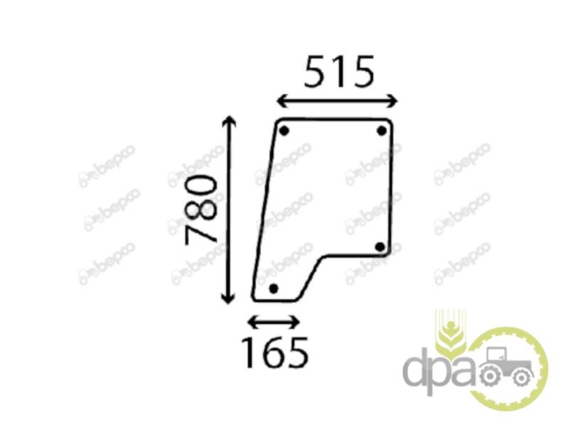 Geam usa superior stanga sau dreapta  Case IH 1284789C1