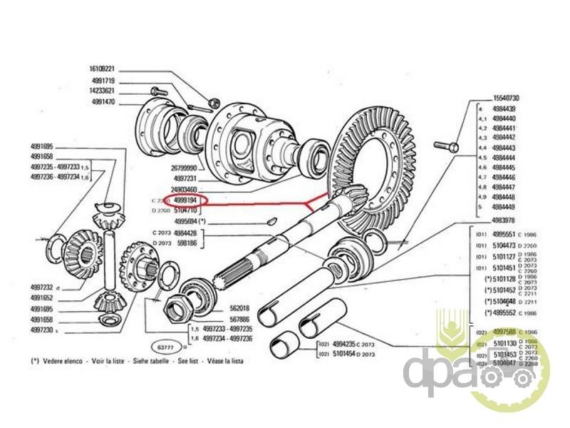 Grup conic spate  Fiat 4999194