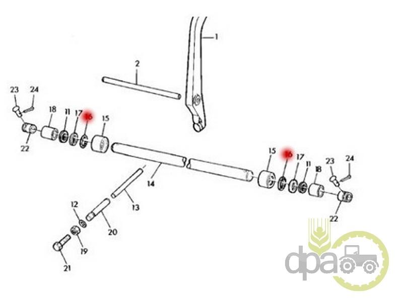 Oring ax ridicare hidraulica  John Deere R27149