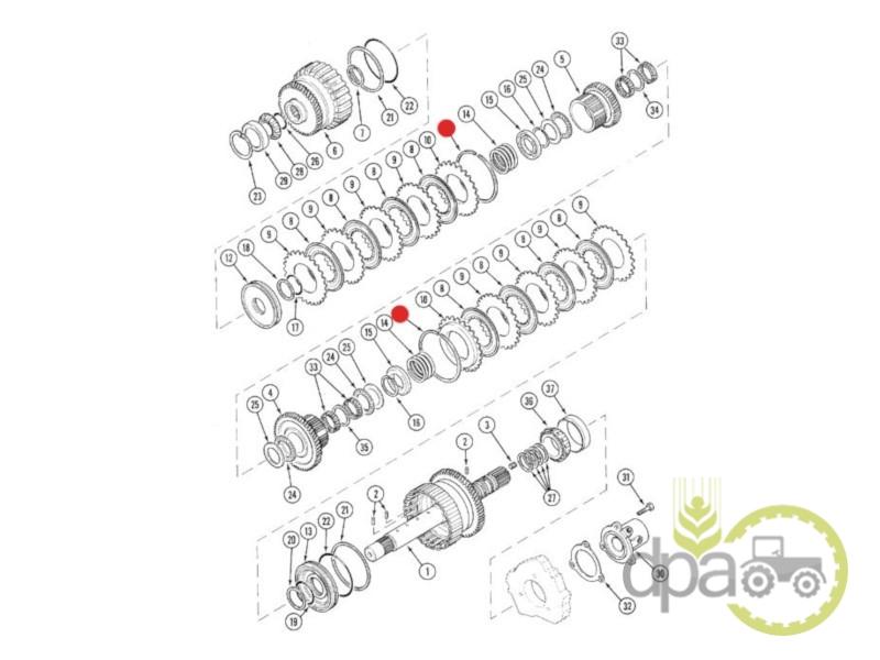 Segment transmisie  Case IH 139987A1