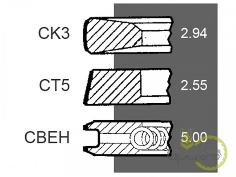 Segmenti motor  Deutz 04156566