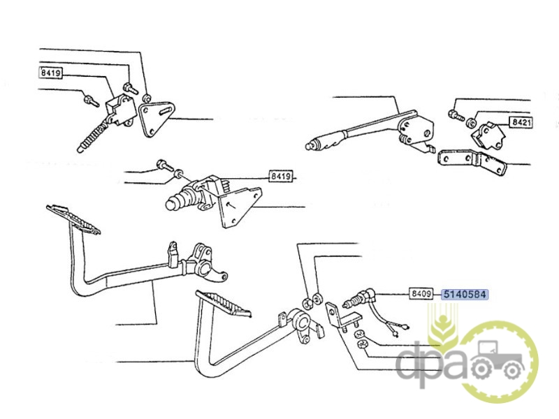 Senzor pedala ambreiaj  Fiat 47813869