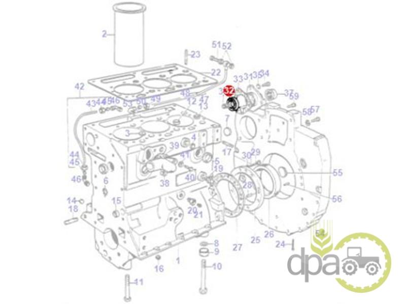 Simering motor  Massey Ferguson 636762M1