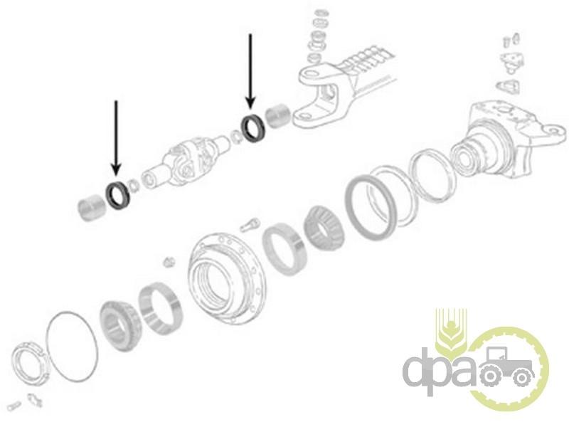 Simering planetara fata  John Deere 04368536