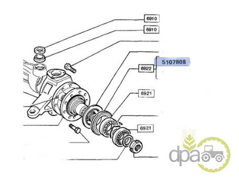 Simering roata fata  Fiat 4566349