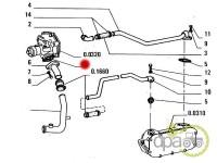 Fiat-Garnituri sistem racire-GARNITURA CONDUCTA POMPA APA