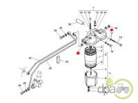 Massey Ferguson-Garnituri sistem alimentare-ORING BATERIE FILTRU COMBUSTIBIL