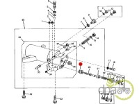 John Deere-Alte piese sistem ridicare hidraulica-SCAUN SUPAPA CILINDRU HIDRAULIC