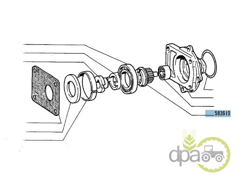 Pinion ax pompa hidraulica  Fiat 583610